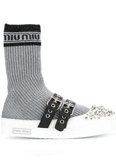 Miu Miu sock insert sneakers