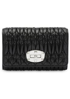 Miu Miu foldover quilted wallet