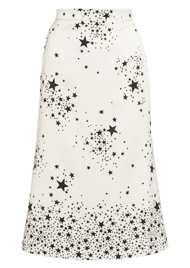 Miu Miu St. Stars Printed Midi Skirt