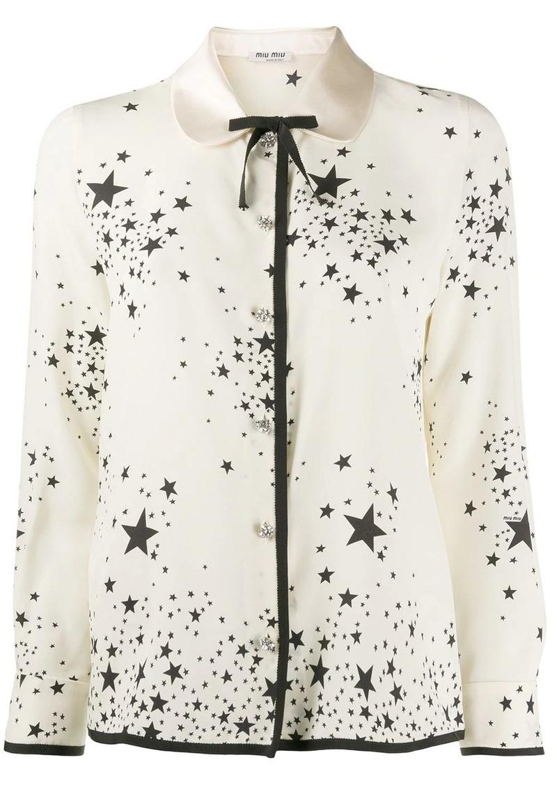 Miu Miu star print blouse