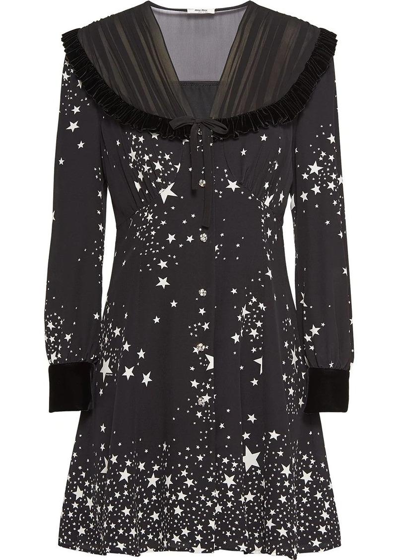 Miu Miu star-print flared dress