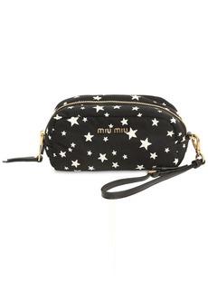 Miu Miu Star Printed Nylon Cosmetic Case