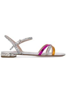 Miu Miu strappy glitter sandals