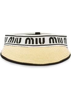 Miu Miu straw visor with logo