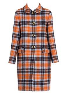 Miu Miu Stretch-Virgin Wool Check Coat