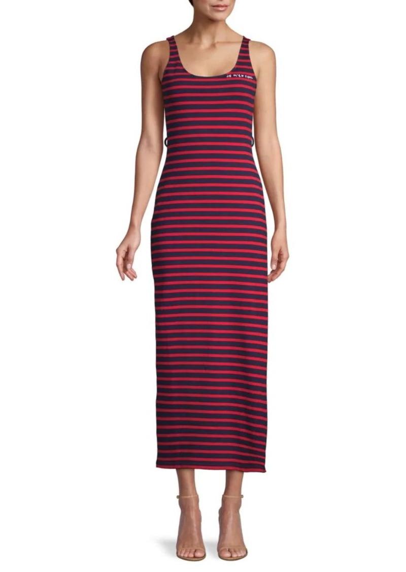 Miu Miu Striped Cotton Sheath Dress
