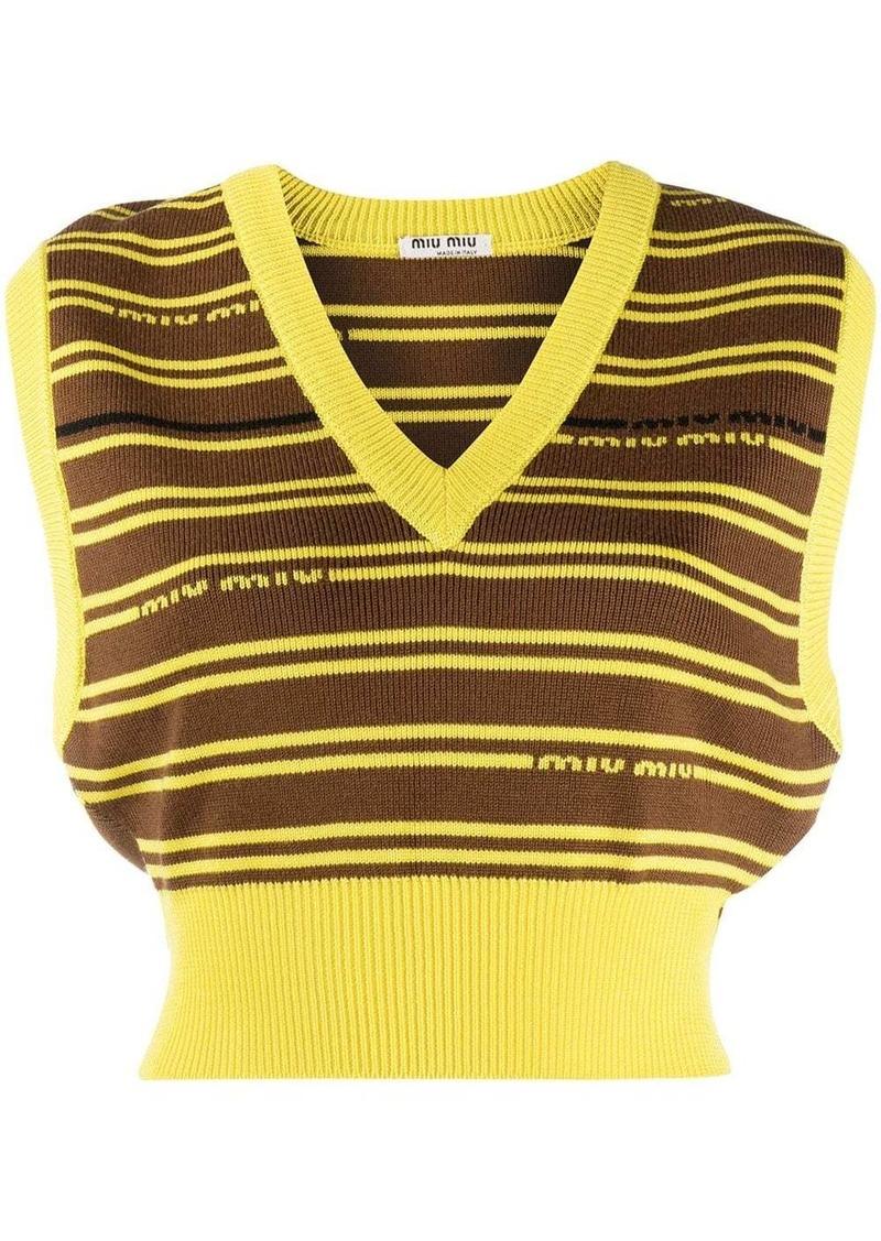 Miu Miu striped knitted top