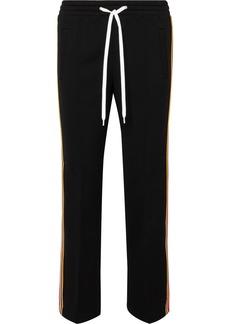 Miu Miu Striped Stretch-jersey Track Pants