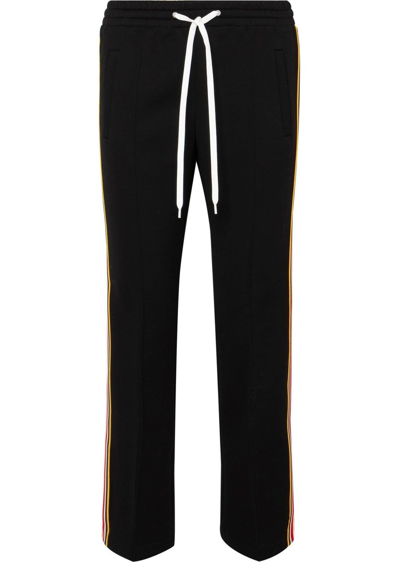 Miu Miu Striped Stretch-jersey Track Pants