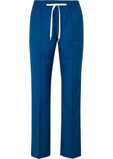 Miu Miu Striped Wool And Mohair-blend Track Pants