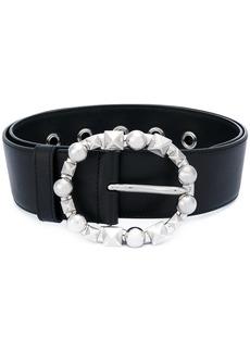 Miu Miu studded buckle belt