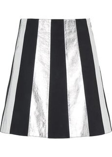 Miu Miu Suede and laminated nappa leather skirt