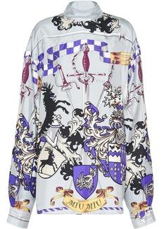 Miu Miu sword-print blouse