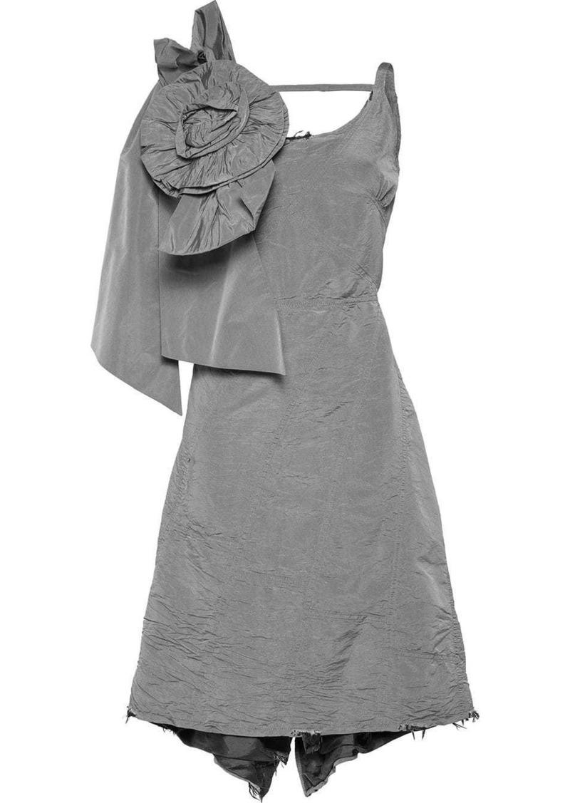Miu Miu Taffeta dress with bow and rose