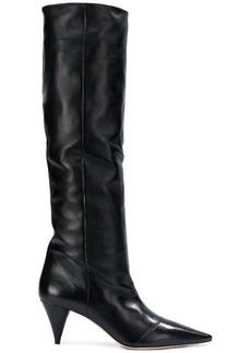Miu Miu tall pointed boots