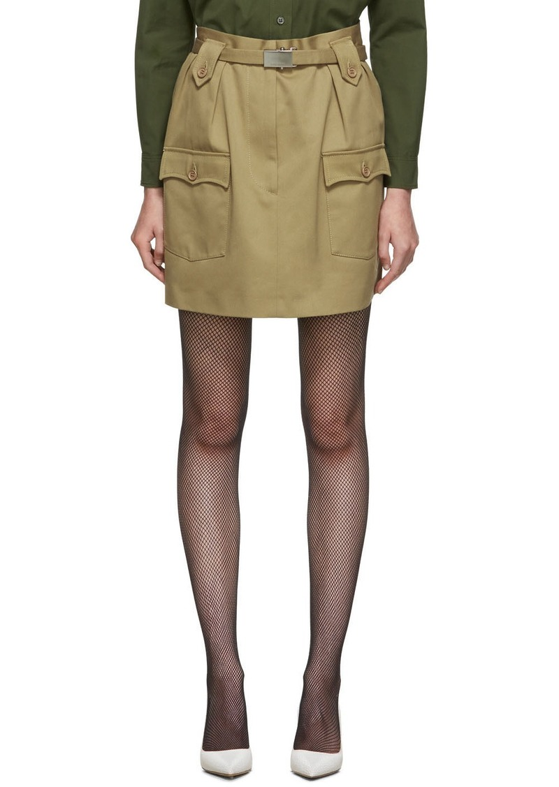 Miu Miu Tan Pocket Miniskirt