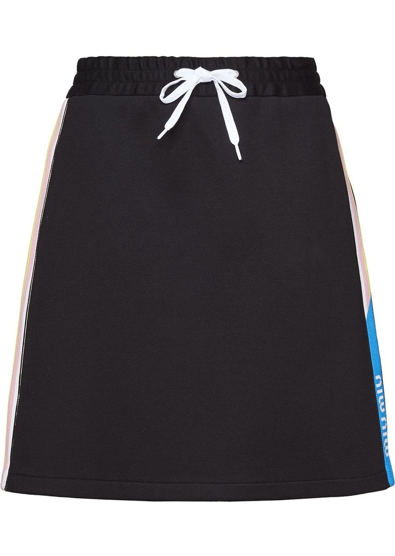 Miu Miu Technical cotton fleece skirt