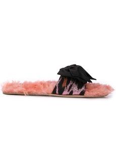 Miu Miu textured bow sandals