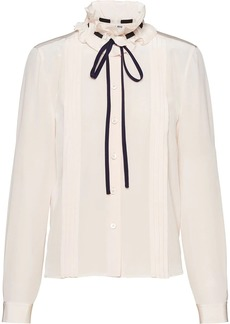 Miu Miu tied collar blouse