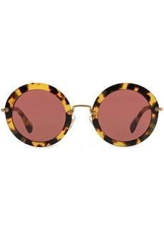 Miu Miu tortoiseshell round sunglasses