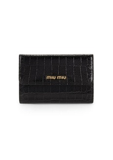 Miu Miu Tri-Fold Leather Wallet