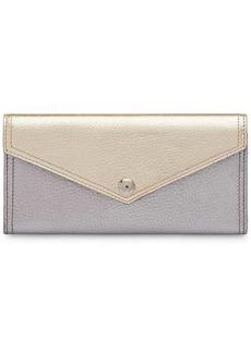 Miu Miu two-tone madras wallet