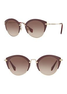 Miu Miu Typewriter 52mm Cat Eye Sunglasses