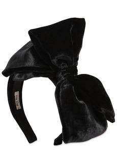 Miu Miu Velvet Bow Headband