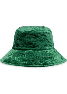 Miu Miu velvet-effect bucket hat