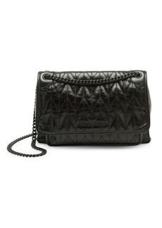 Miu Miu Vitello Shine Matelassé Leather Shoulder Bag
