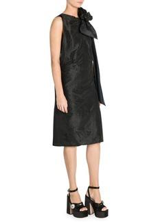 Miu Miu Washed Taffeta Sleeveless Dress