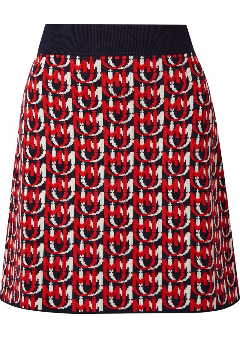 Miu Miu Wool-blend Jacquard-knit Mini Skirt