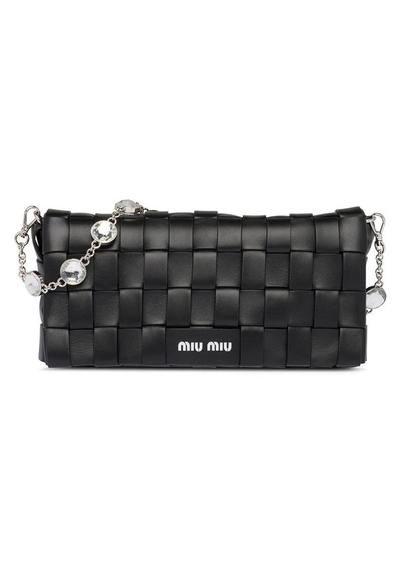 Miu Miu woven shoulder bag