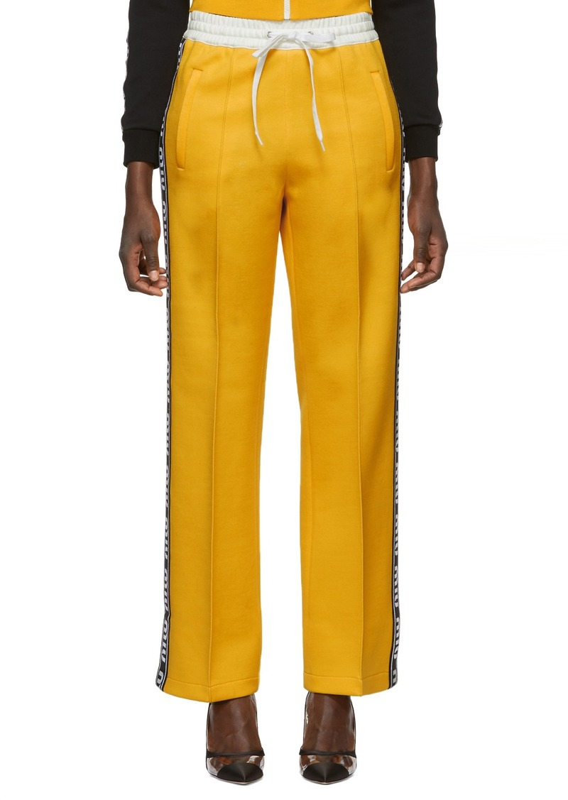 Miu Miu Yellow Elastic Stripe Lounge Pants