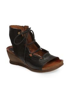 Miz Mooz Satine Ghillie Wedge Sandal (Women)