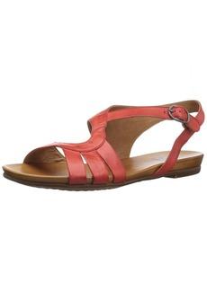 Miz Mooz Women's Ashe Flat Sandal red  M US