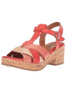 Miz Mooz Women's Cabana Sandal red  M US