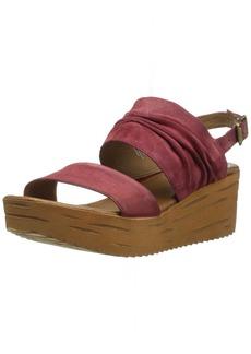 Michael Kors Girls' Frilz Suede Demi Wedge Slingback Sandals