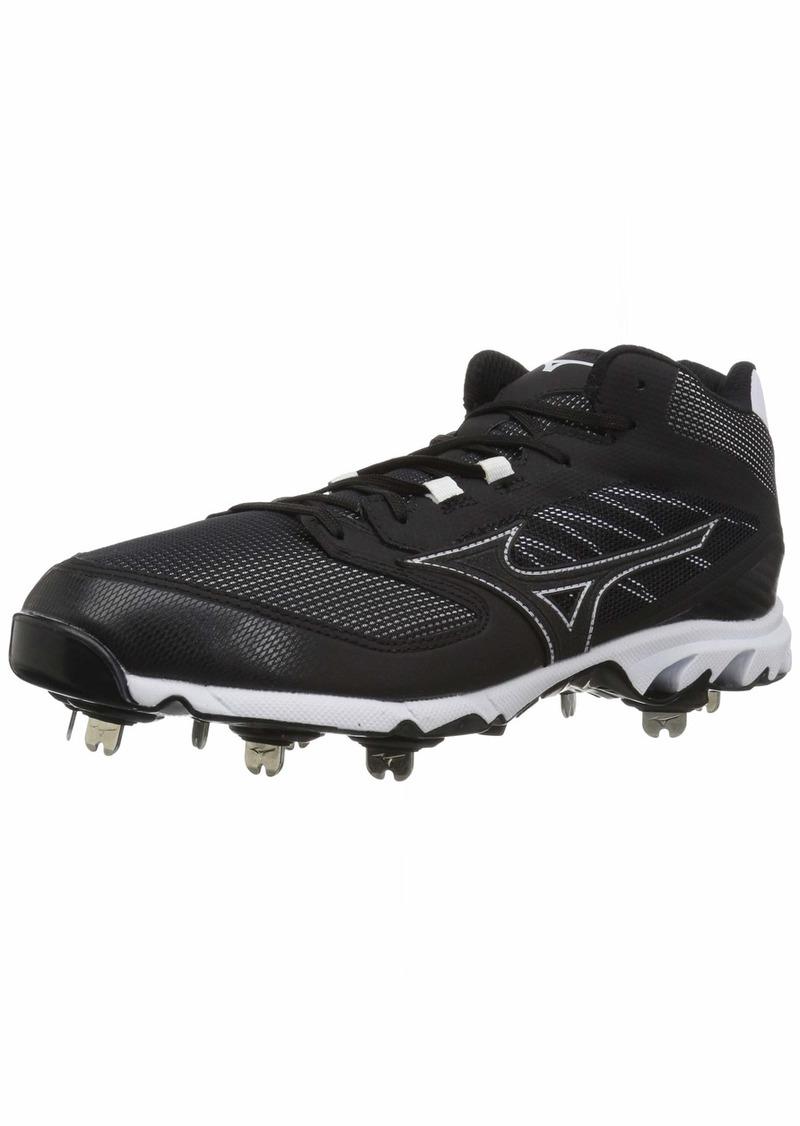 Mizuno Men's 9-Spike Dominant IC Mid Metal Baseball Cleat Shoe   D US