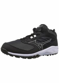 Mizuno Men's Dominant All Surface Mid Turf Baseball Shoe   D US
