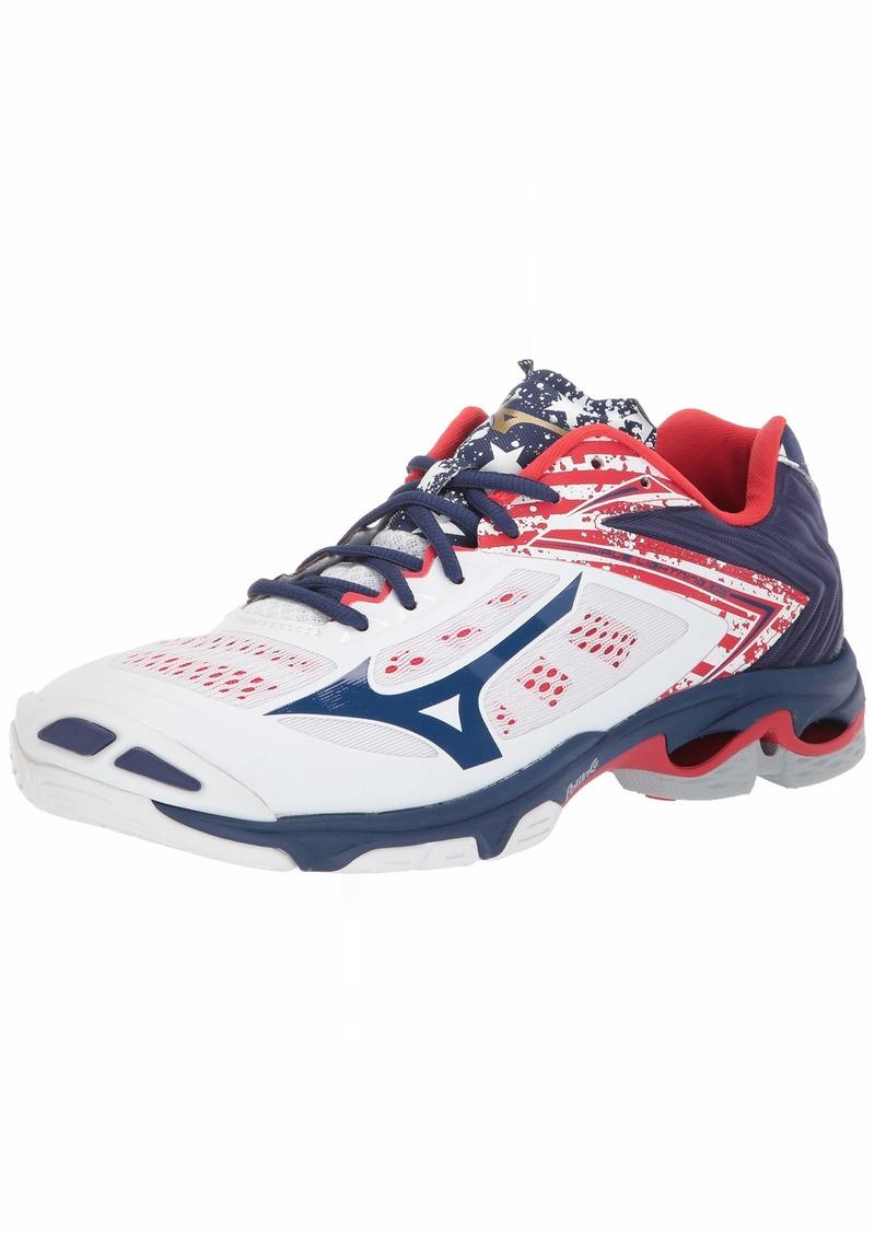 Mizuno Men's Wave Lightning Z5 Volleyball Shoe stars & stripes  D US