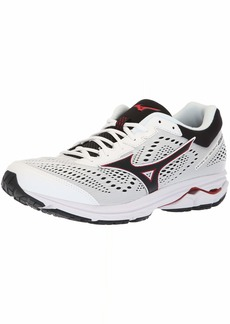Mizuno Men's Wave Rider 22 Running Shoe White/red 13 D US