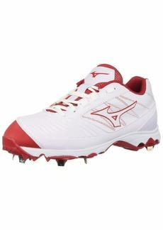 Mizuno Women's 9-Spike Advanced Sweep 4 Low Metal Softball Cleat Shoe White/red 10 B US