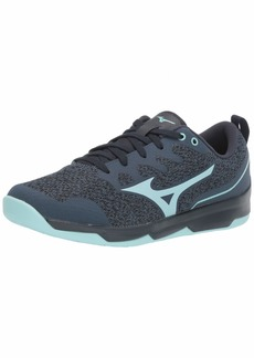 Mizuno Women's TC-02 Cross Training Shoe Cross Training Sneakers for all forms of Exercise Navy-Light Blue  B US