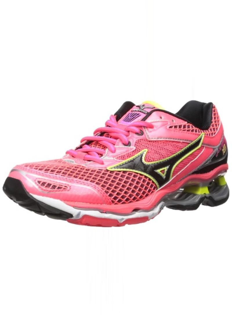 Mizuno Women's Wave Creation 18 Running Shoe Diva Pink-Black-Safety Yellow  B US