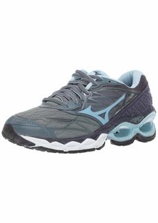 Mizuno Women's Wave Creation 20 Running Shoe Graphite-Cool Blue  B US