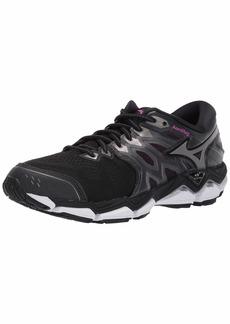 Mizuno Women's Wave Horizon 3 Running Shoe Black-Metallic Shadow  B US