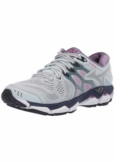 Mizuno Women's Wave Horizon 3 Running Shoe Quarry-Silver  B US