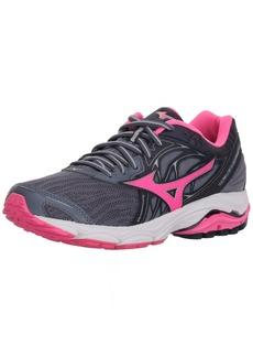 Mizuno Women's Wave Inspire 14 Running Shoe Folkstone Gray/Pink glo 6.5 B US