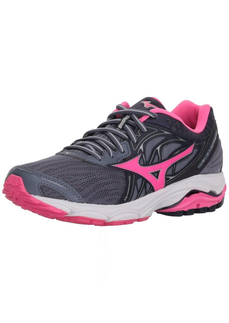 Mizuno Women's Wave Inspire 14 Running Shoe Folkstone Gray/Pink glo  B US